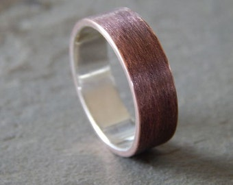 4 to 8 mm TEXTURED COPPER Band // Men's Wedding Ring // Women's Wedding Ring // Men's Wedding Band // Women's Wedding Band // Unique Band