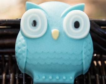 Owl Soap Blue - Handmade Shea Butter and Glycerin Soap // Gifts for Her