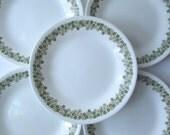 Vintage Corelle Corning Spring Blossom Bread & Butter/Dessert Plates Set of Five