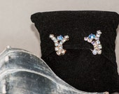Gorgeous AB Clear Rhinestone Clip Earrings