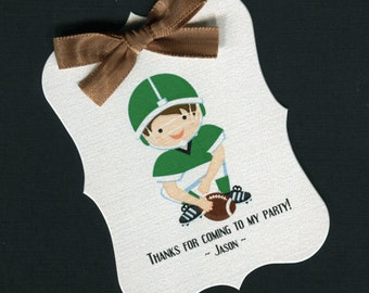 Boys Birthday Party Favor Tags - Birthday Party Tags - Boys BIrthday Tags - Personalized Tags - Football - 20