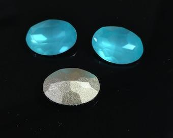 4pcs x Oval 14x10mm Blue Shade Opal Crystals fit Swarovski 4120 (Y4120141037)