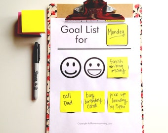 Rotating Goal Tracker With Emojis PRINTABLE PDF