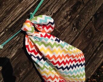 Riley Blake Rainbow Chevron Baby Swaddling Blanket--LARGE