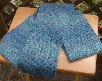 Variegated Lightweight Wool and Mohair Scarf