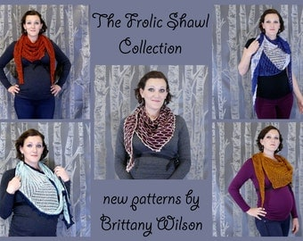 KNITTING PATTERN- Frolic Shawl 3 Pattern Collection PDF Download