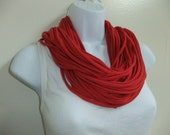 Chunky Scarf Necklace Multi Strand Infinity Looped Spaghetti Statement Necklace T Shirt Scarf