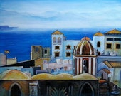 "On the Horizon - Tarifa, Spain - Original Painting - 29"" X 23.25"""