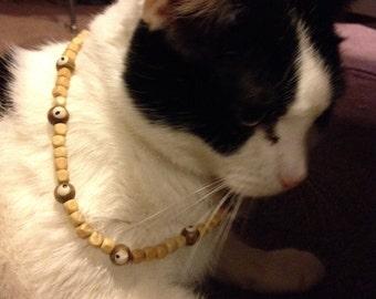Creepy wooden EYES necklace