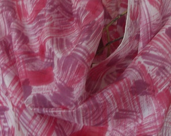 hand painted long silk abstract scarf