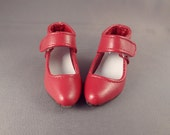 Doll Shoes for SD Sized Ball Jointed Dolls Monique Brand Size 70 mm/29 mm Burgundy, Red, Brown, White Leather Velcro Ankle Strap