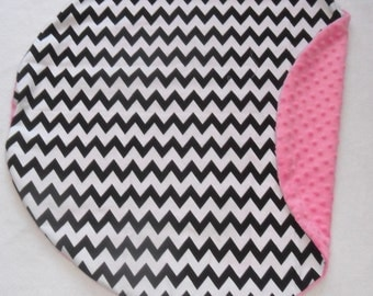 Black Chevron and Hot Minky Pillow Cover Fits Boppy Newborn Lounger MINKY COLOR CHOICE