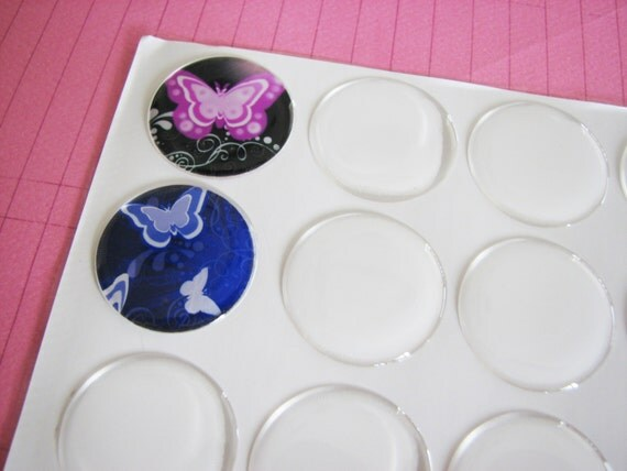 20  1 inch Circle Round Epoxy Stickers Domes  25mm Peel & Stick Image Cover
