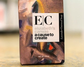 Elizabeth's Canvas ~ Lavender Oatmeal Facial Soap