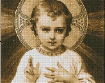 BABY JESUS cross stitch pattern No.199