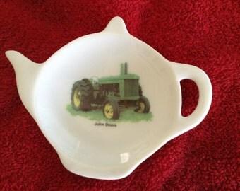 """Ceramic Teabag Holder  John Deere 4.5"""""""