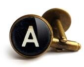Personalised Initials Alphabet Typewriter Key Cufflinks