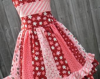 Ready to Ship Custom Boutique Hearts Flirtations Girl Valentine Dress 7 8