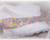 Spring Pastel Florals and Easter Eggs Decorative Display GUEST Hand TOWEL