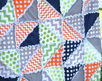 Rag Quilt Pattern-Triangle Dash With Car Seat Tent Instructions - Triangle Quilt Pattern for Baby Quilt and Car Seat Canopy - Baby Shower
