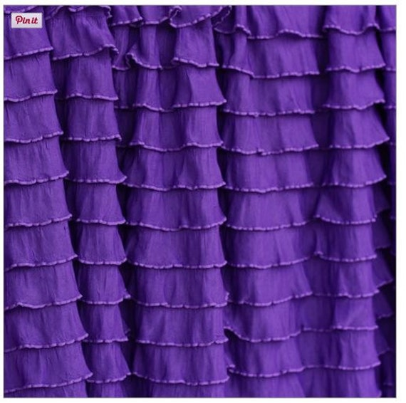 Kitchen Curtains Purple: Ruffle Curtain Valance Grape Purple For By Avisiontoremember
