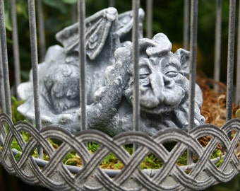 Pet Dragon Statue - Baby Dragon In A Cage is READY TO SHIP - Hand Raised and Ready for a New Home