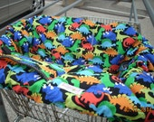 Shopping cart cover for boy or girl Dinosaurs Michel Miller Retro-Dino Mites....... Shopping Cart Cover