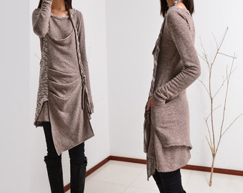 Long long braids - vagabond cotton tunic dress set (Q1501)