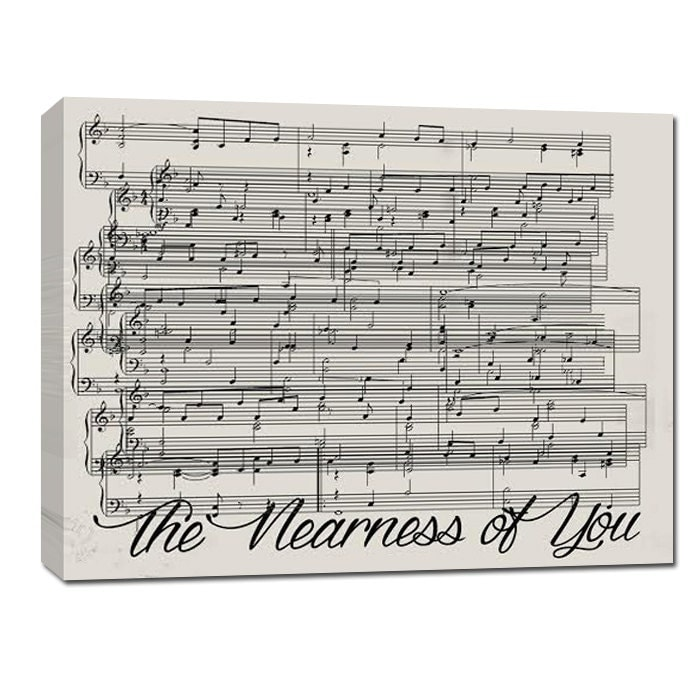 Dancing On My Own Sheet Music With Lyrics: Personalized Gift Custom Overlapping Sheet Music Notes Wall