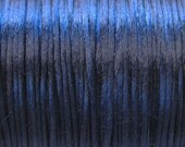 Navy Blue Satin Rattail Cord 1mm 6 yards for Macrame Kumihimo Knotting