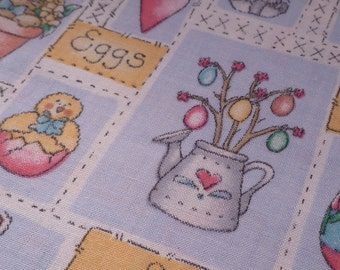 Easter Medley - Vintage Fabric - Cotton - Blue - Dianna Marcum - Marcus Brothers