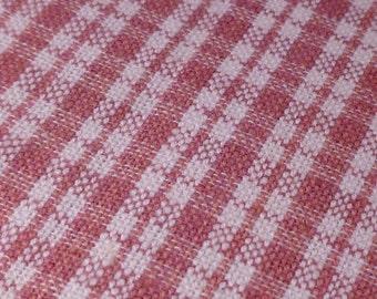 Rose Plaid - Vintage Fabric - Cotton - Primitive