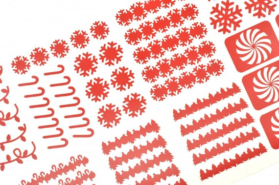 Winter Holiday Vinyl Nail Decal Sheet - Limited Edition