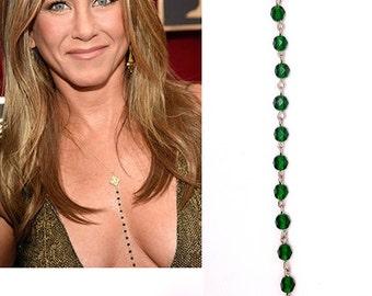 Necklace Of Jennifer Aniston,Celebrity Inspired Necklace - Jennifer Aniston Necklace - Personalized Necklace