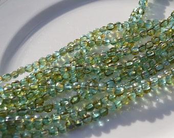 Aquamarine Celsian 5mm Round Melon Beads   50
