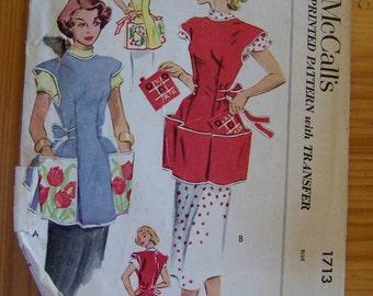 mccall apron pattern 1713
