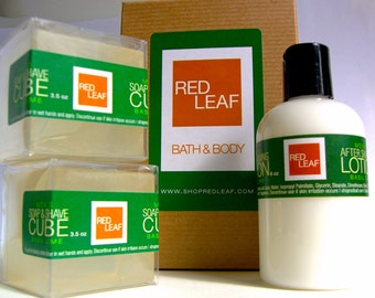 Basil Lime Shaving Soap and Lotion Gift Set For a Brother, Uncle, Father, Friend