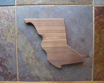 Province Shaped Cutting Board - British Columbia - Walnut