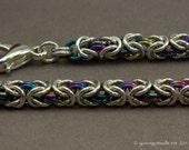 Secrets - Delicate Argentium Niobium Chainmaille Bracelet