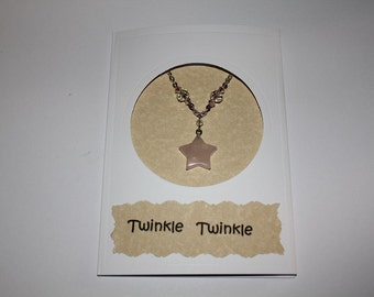 Twinkle Twinkle Little Star Child Necklace With Gift Card And Envelope
