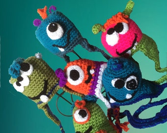 Custom Made Alien and Monster Hats for Babies Kids Adults One of a Kind Just for You