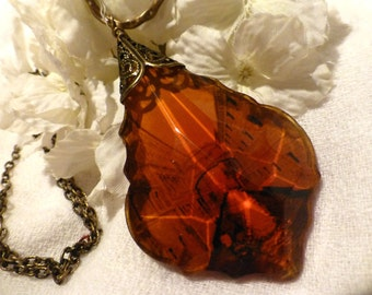 Venice At Sun Set Amber Travel Necklace - Bridge of Sighs Italy Long Sweater Necklace - Wanderlust  Jewelry
