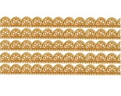 Dresden Trim Germany 5 Rows Of Fancy Scallop Antique Gold Paper Lace  DFW 204 AG