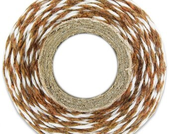 Classic Brown Bakers Twine - 100 yards of brown and white stripe twine