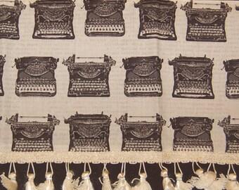 vintage typewriter tea towel steampunk