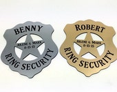 Ring Security,Ring Bearer Security Badge,Ring Bear Gift,Personalized Ring Bearer Badge,WIth Gift Box