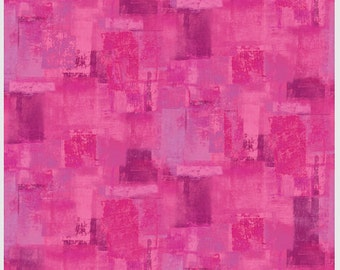Paint Strokes Fuschia Textura P and B Textiles Fabric 1 yard