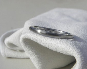Titanium Ring or Wedding Band Narrow Width Satin Finish