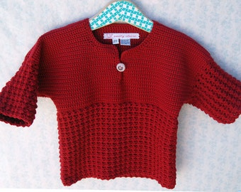 Winter Toddler Girl Sweater - Warm Winter Christmas Red Toddler Girl Pullover Sweater - Size 2T-3T(PULLOVER109)