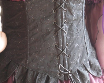 DDNJ Choose Fabric Reversible Front Back Lace UnderBust Corset w Tabs Plus Custom Made ANY Size Renaissance Anime Pirate Fairy Costume larp